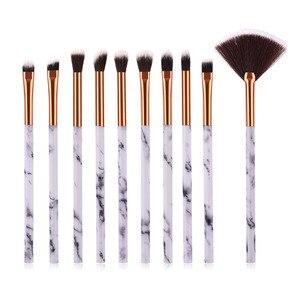 Image 4 - 10pcsPromotions marbling texture brushes face foundation powder eyeshadow kabuki eye blending cosmetic marble makeup brush tool