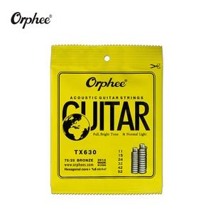 Image 3 - Freies verschiffen 10 stücke orphee gitarre saiten TX620/TX630/TX640 akustische gitarre saiten Extra Licht