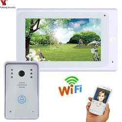 YobangSecurity 7 Inch Drahtlose WiFi Video Tür Telefon Und Überwachung IOS Android APP Control Video Türklingel Intercom System.