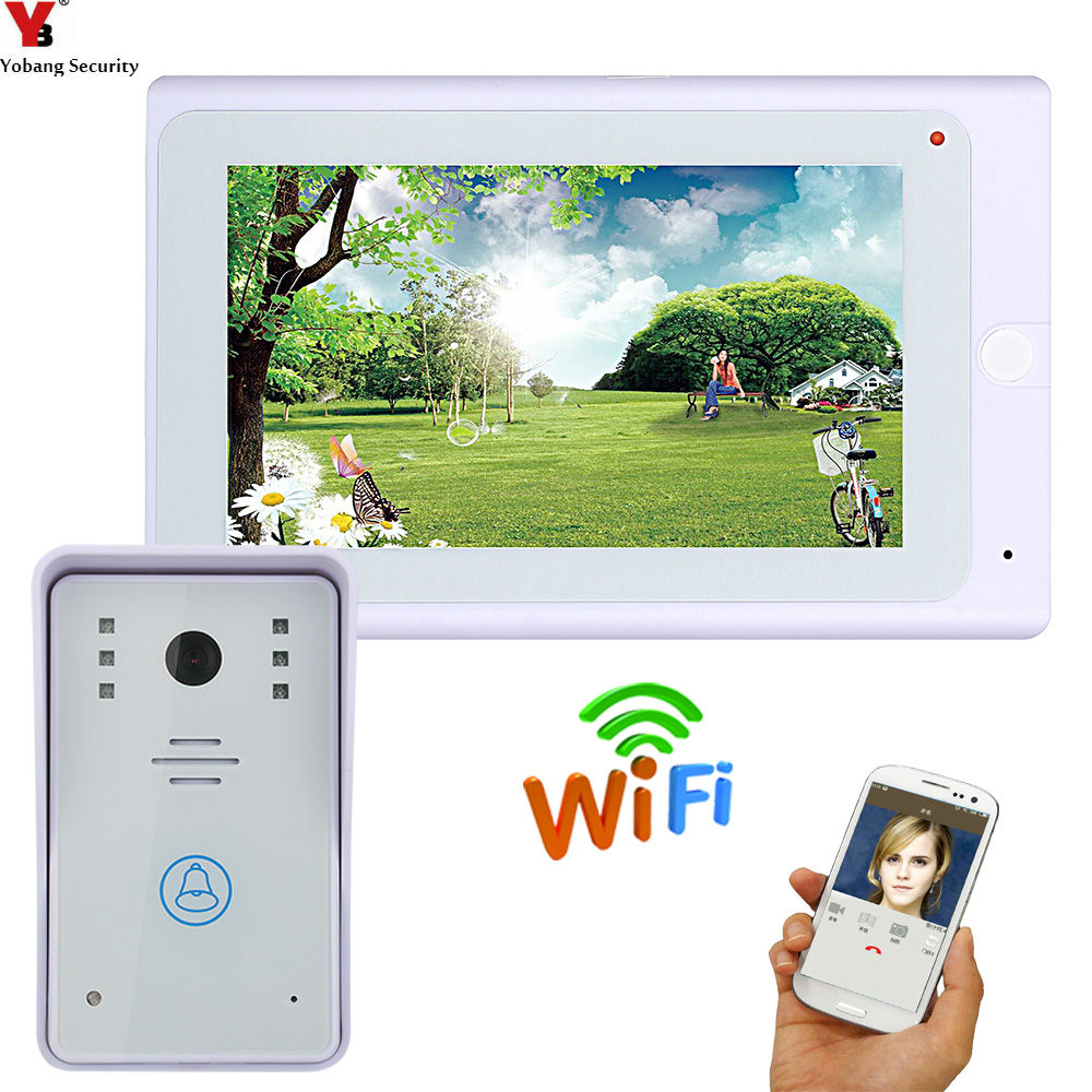 YobangSecurity 7 Inch Wireless WiFi Video Door Phone And Monitoring IOS Android APP Control Video Doorbell Intercom System .