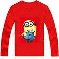 New 2017 Cartoon Children autumn T-shirt  Minions t shirt dress cotton material boys girls spring wear