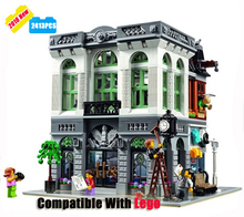 2413pcs/lot Kids Educational Toys DIY Bank Plastic Model Kits Building Block Bricks With Mini Figures Great Children Toys Gifts