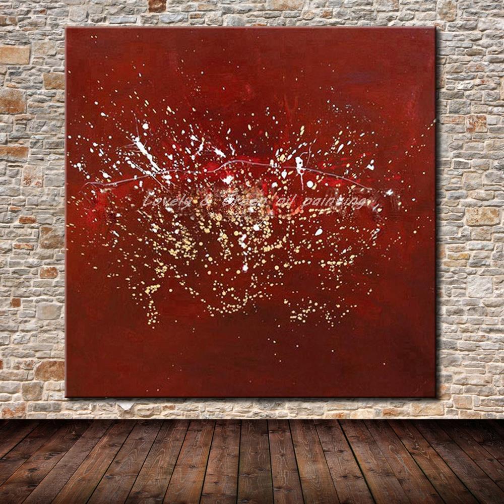 ᗚPinturas al óleo abstractas pintadas a mano en lona pintura ...