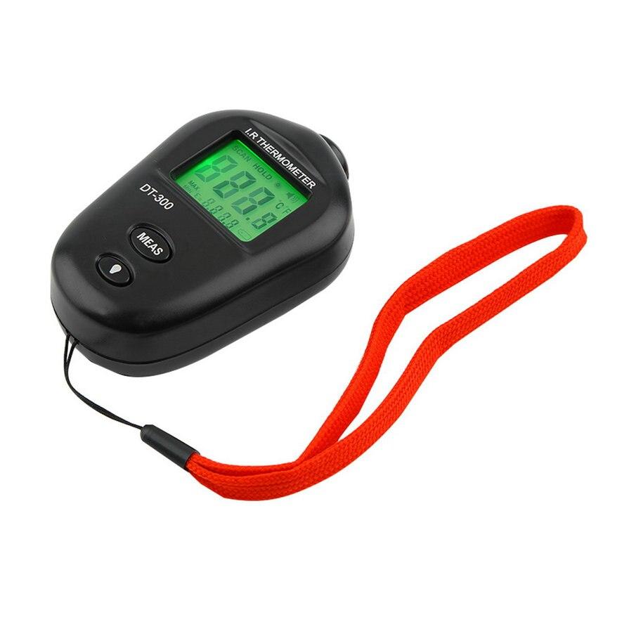 1 pc Mini Digital Sans Contact IR Infrarouge LCD Thermomètre DT-300 Noir Date Hot Recherche