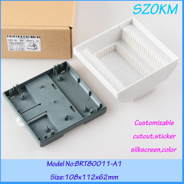4 pcs lot free shipping din rial plastic abs fireproof box PLC box for electronics 108X112X62MM