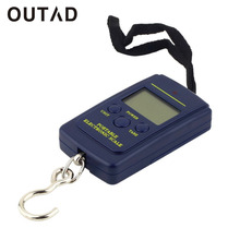 OUTAD 40kgx10g Portable Mini Electronic Digital Scale Hanging Fishing Hook Pocket Weighing Kitchen luggage Scale