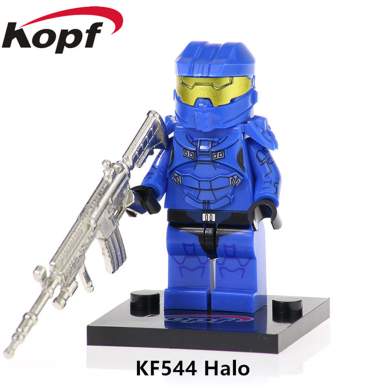 Toys & Hobbies 20pcs Series Warrior With Real Metal Weapon Halo Spartan Solider Assemble Building Blocks For Children Toys Christmas Gift Kf544 Utmost In Convenience