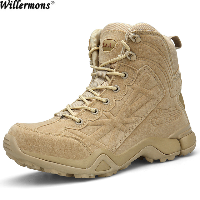 51df6c280c5 Desert Men s Outdoor Breathable Military Combat Short Ankle Work Boots Men  Army Tactical Short Ankle Safety Boots Shoes