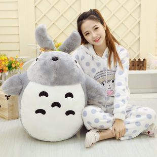 big plush lovely Totoro toy large stuffed classic expression totoro doll gift about 90cm 0361 free shipping about 60cm cartoon totoro plush toy dark grey totoro doll throw pillow christmas gift w4704