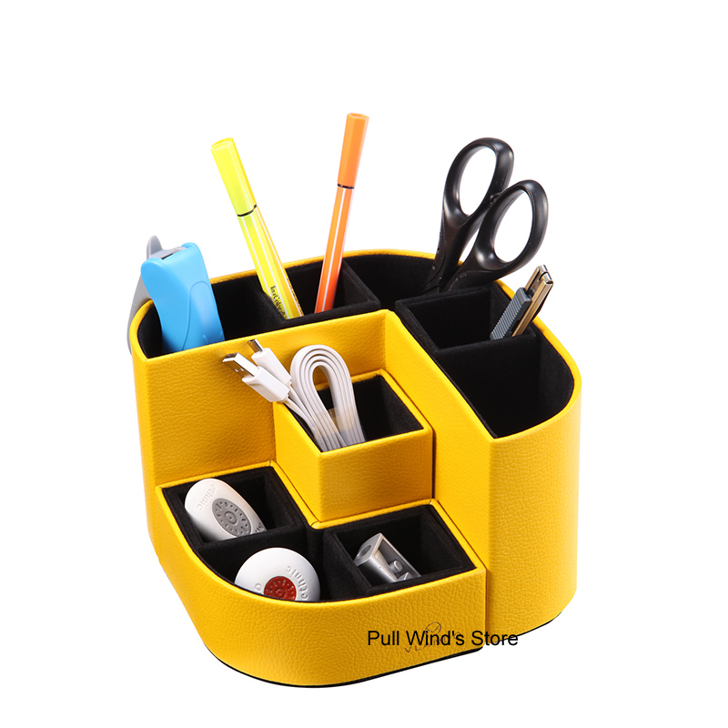 Combinaison exquise de boîte de rangement de bureau créative bureau papeterie fournitures scolaires boîte de rangement