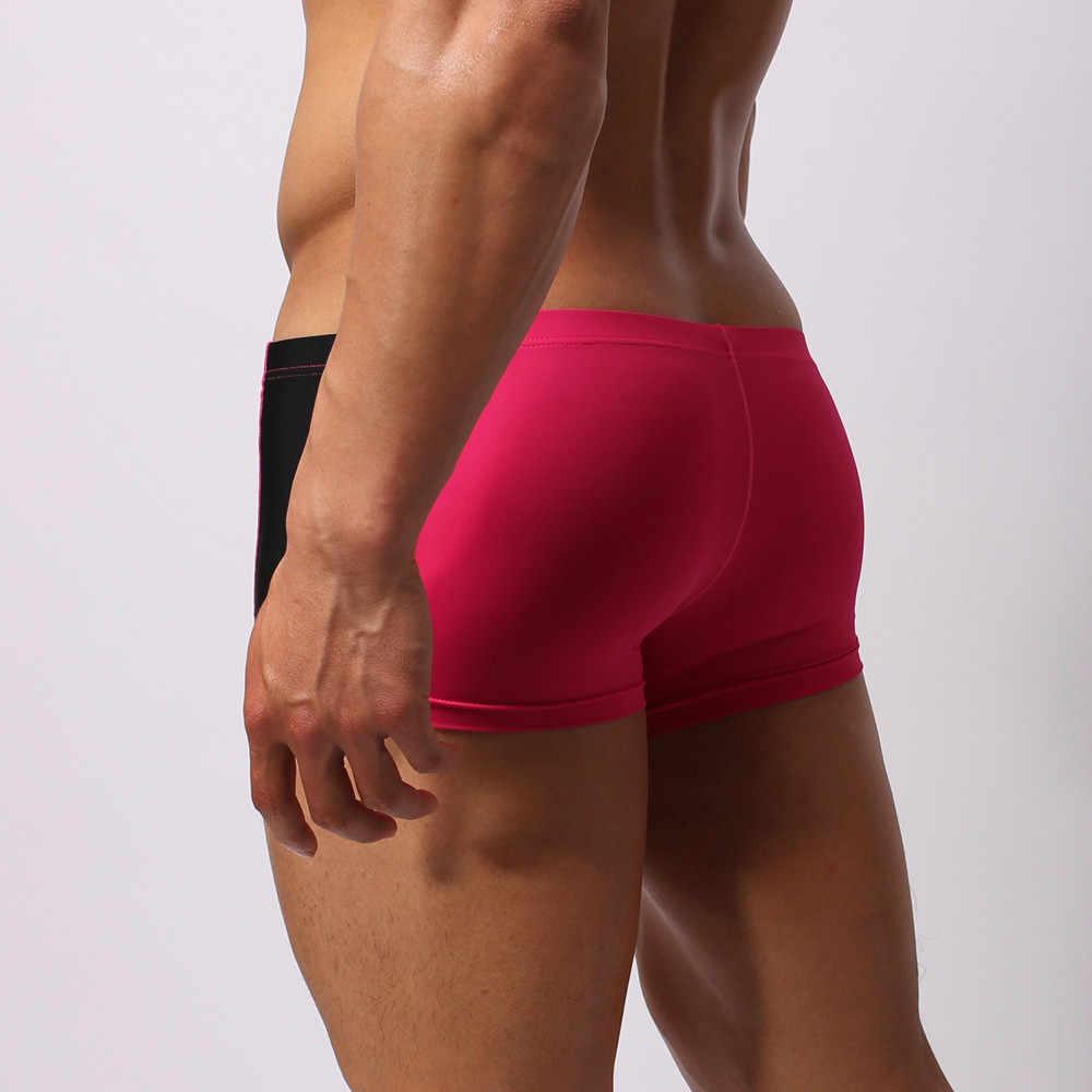 2020 جديد ملابس السباحة الرجال سراويل للسباحة مثير الرجال سراويل داخلية للرجال السباحة سروال سباحة قصير سريعة الجافة الذكور Fatos دي بانهو # YL10