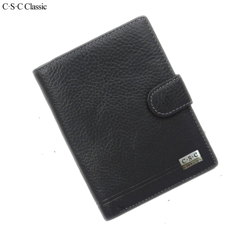 C.S.C Classic Men Wallet Genius Leather Portfolio Brand s
