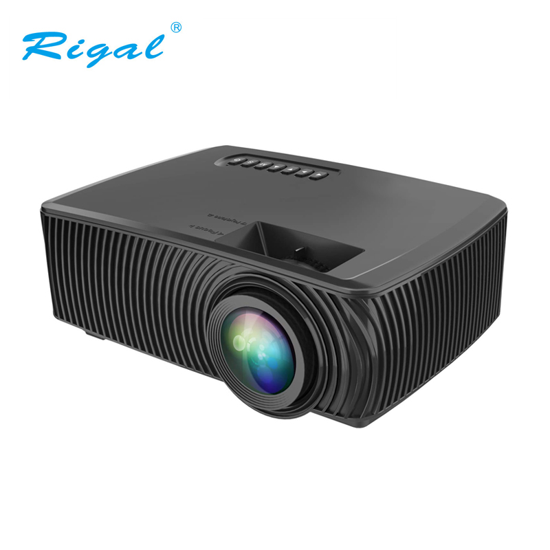 Rigal RD 816 LED Projector 2000Lumens Home Entertainment Theater 1920*1080P HD Mini Projector Support SD HDMI USB VGA    1