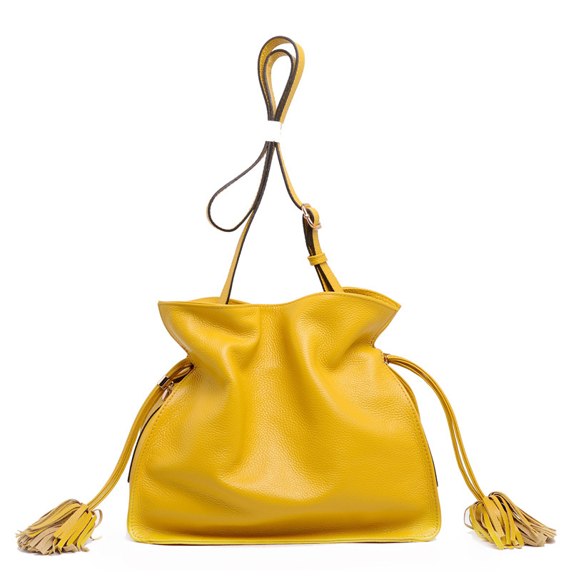 Women Bags 2017 New Spring Summer Tassels Bucket Bags Small Cross-body Bag Fashion Trend Brief Shoulder Bag For Lady new arrival fashion women leather tassels handbag cross body single shoulder bucket bag lady girls vintage messenger bags bolsa