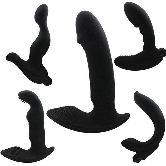 G-spot Простаты Массажер Силиконовый Вибратор Мужской Мастурбации Анальный Пробка для человек Butt Plug Анальный Секс Игрушки для Мужчин и Женщин H29