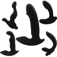 G-spot Prostate Massager Silicone Vibrator Male Masturbation Anal Stopper for Man Butt Plug Anal Sex Toy for Male and Female H29