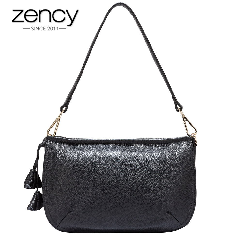 Zency Small Women Shoulder Bag The First Layer Cow Leather Genuine Fashion Charm Ladies Messenger Bag bolso hombro las mujeres zency genuine leather small women shoulder tassel bags tote handbags first layer cow leather ladies messenger bag satchel