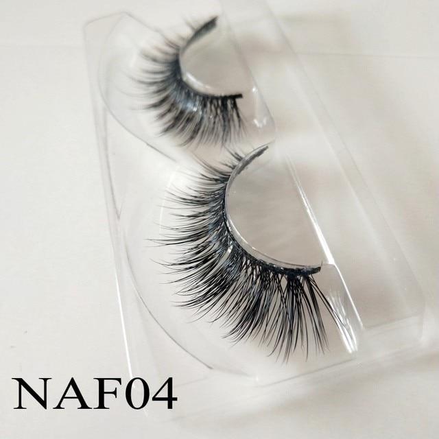 Natural 3d Mink Lashes Vendors Cheap False Eyelashes Long Lasting