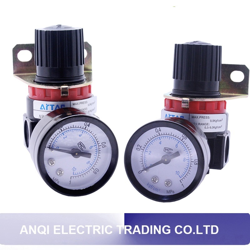AR2000 G1/4'' Pneumatic parts New Air Control Compressor Relief Regulating pressure regulating valve AR2000 air control compressor pressure gauge relief regulating regulator valve ar3000 02 1 4 port size