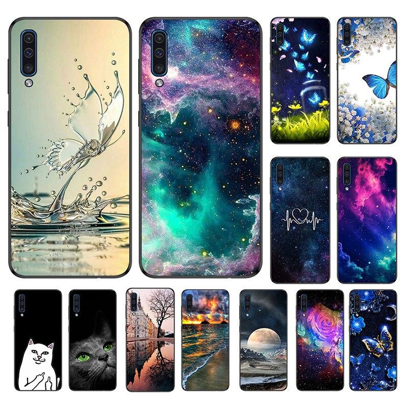 Phone-Cover Back-Case Galaxy A50 Silicone Samsung A Black Matte for TPU Funda SM-A505F