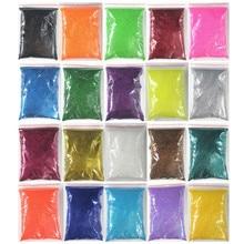 20 цветов на выбор, 100 г, упаковка, очень тонкие блестки для ногтей, пудра для ногтей, художественные советы, украшения для тела