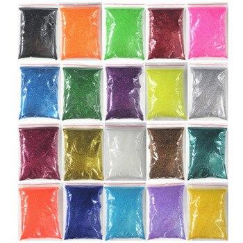 20 Colors Choice 100g Bulk Packs Extra Ultra Fine Nail Glitter Dust Powder Nails Art Tips Body Crafts Decoration Wholesale 1