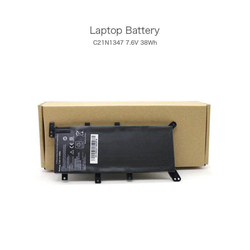 7.6V 38Wh C21N1347 OEM Battery Pack for ASUS X555 X555LA X555LA-SI30202G X555LD X555LN Laptop Black Color new laptop battery for asus k40 x8a oem 4400mah 11 1v