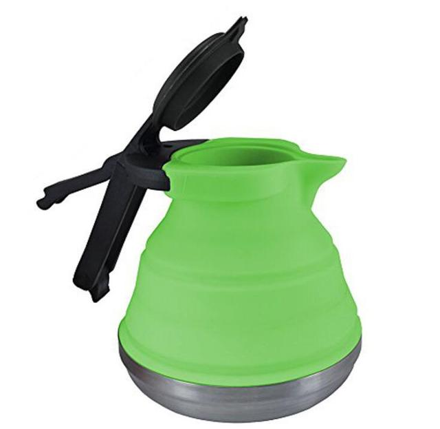 Wholesale 1.5L folding silicone teakettle Travel portable water kettle 1