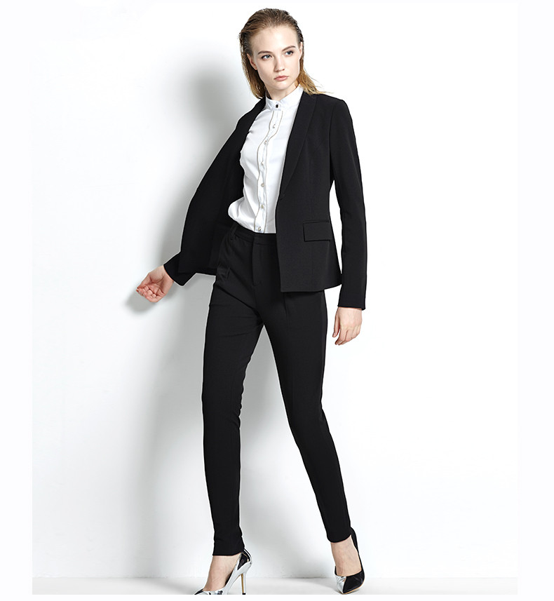 Custom made Light Gray Women Career Work Business Suits Formal Office Western-style Pants Suits Jacket+Pants