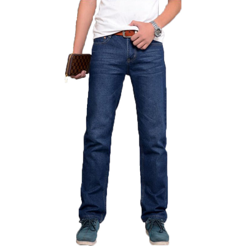 good quality fashion men jeans homme clothes new brand Zipper Straight Blue color brand skinny jeans Men pants free shipping
