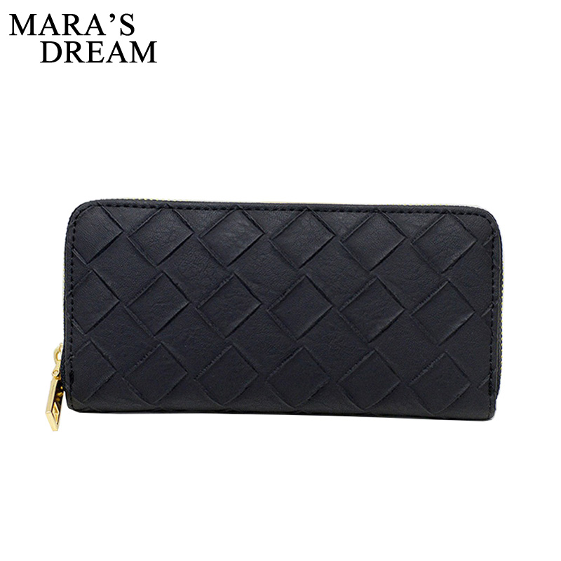 Mara's Dream 2017 Fashion Women Wallet Long Purse Day Clutch Female Coin Card Holder Zipper Change Wallets Feminina Carteira women leather wallets v letter design long clutches coin purse card holder female fashion clutch wallet bolsos mujer brand