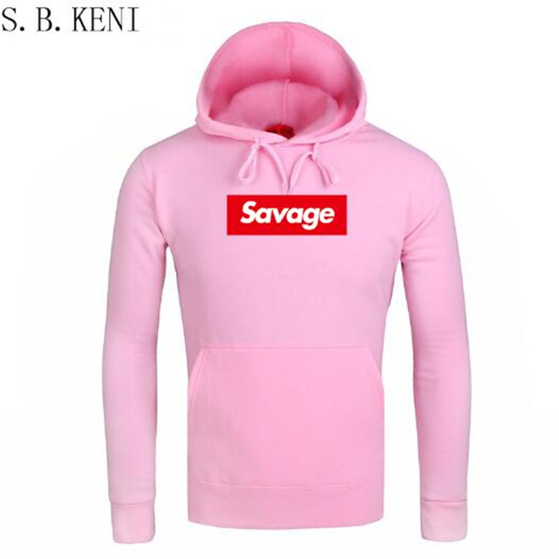 2018 Men Hoodies Pink Autumn New Spoof Cartoon Fashion Printing Cotton Casual Sweatshirts Men/Women Suprem Hoodies Sweatshirts