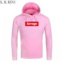 2018 Men Hoodies Pink Autumn New Spoof Cartoon Fashion Printing Cotton Casual Sweatshirts Men Women Suprem