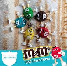 chocolate M&M USB 3.0 Flash Drive pen drive 4GB 8gb 16gb 32gb 64gb USB Stick memory Pendrive U Disk creative Gift Freed shipping