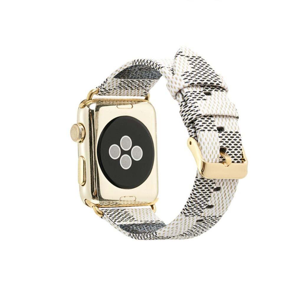 Apple Bande de Montre 42mm 38mm Mode En Cuir iWatch Sport Série 3 2 1 Bracelet pour Femmes Hommes Couleur Rose Or boucle En Métal