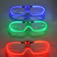 Мигающие очки светодиодный светящиеся вечерние светящиеся принадлежности освещение новинка подарок яркий свет фестиваль вечерние светящиеся очки