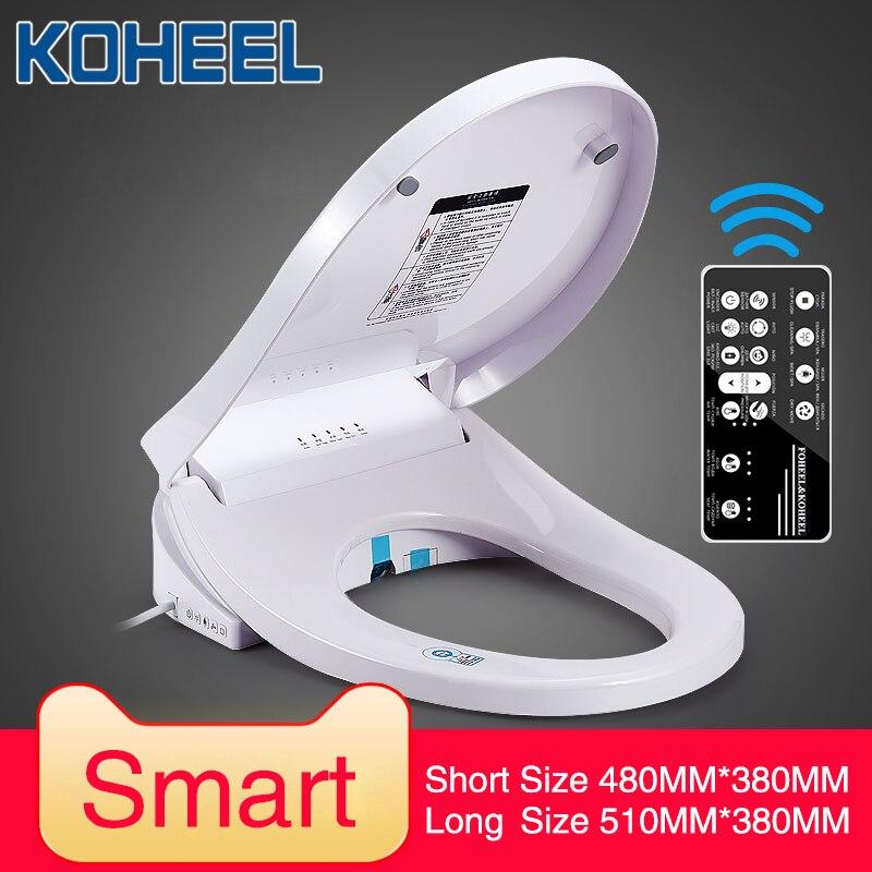 KOHEEL Intelligent Toilet Seat Electric Bidet Smart Toilet Seat Heated Toilet Seat Led Light Wc Smart