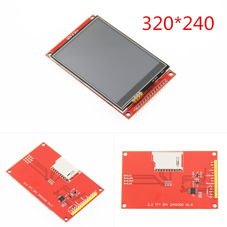 3.2 polegada 320*240 spi serial tft lcd módulo de exibição tela com driver do painel toque ic ili9341 para mcu