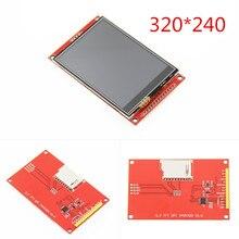 Tela de 3.2 polegadas lcd 320*240 spi, tela de exibição tft com painel de toque driver ic ili9341 para mcu