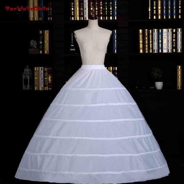 White 6hoops petticoats for wedding dress crinoline underskirt cheap white 6hoops petticoats for wedding dress crinoline underskirt cheap price wedding accessories for brial ball gown junglespirit Choice Image