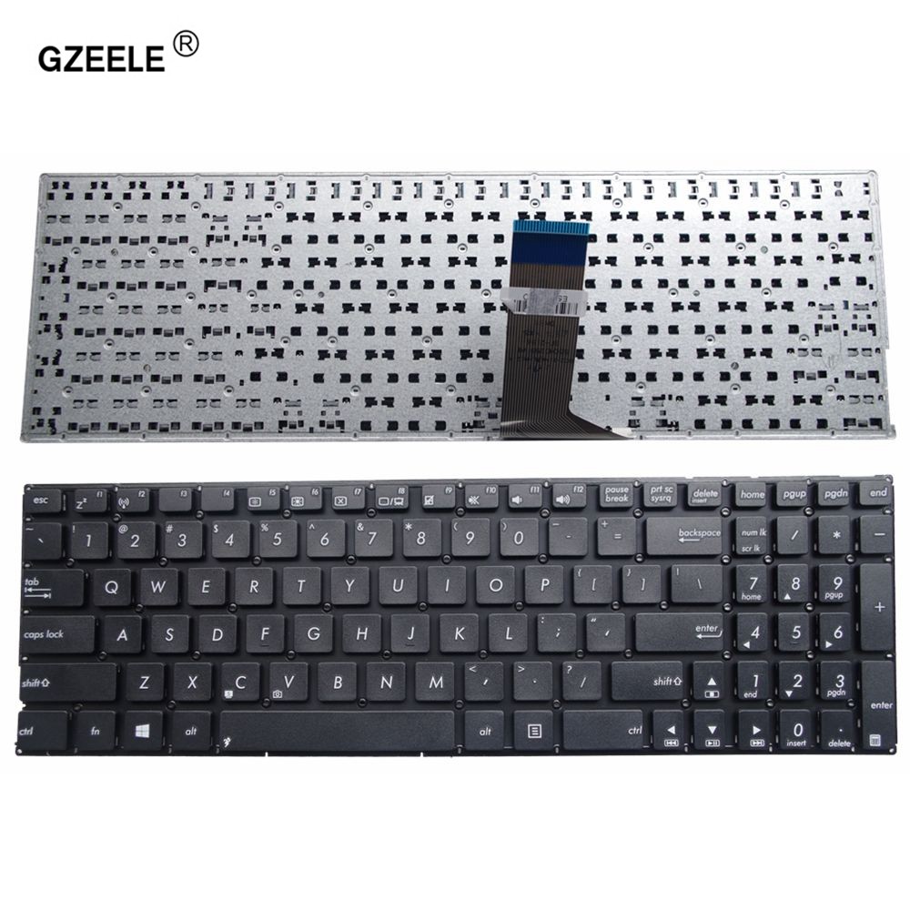 GZEELE US Keyboard For ASUS X553M X553MA K553M K553MA F553M F553MA A553M A553MA D553M D553MA R556L English Laptop Keyboard Black