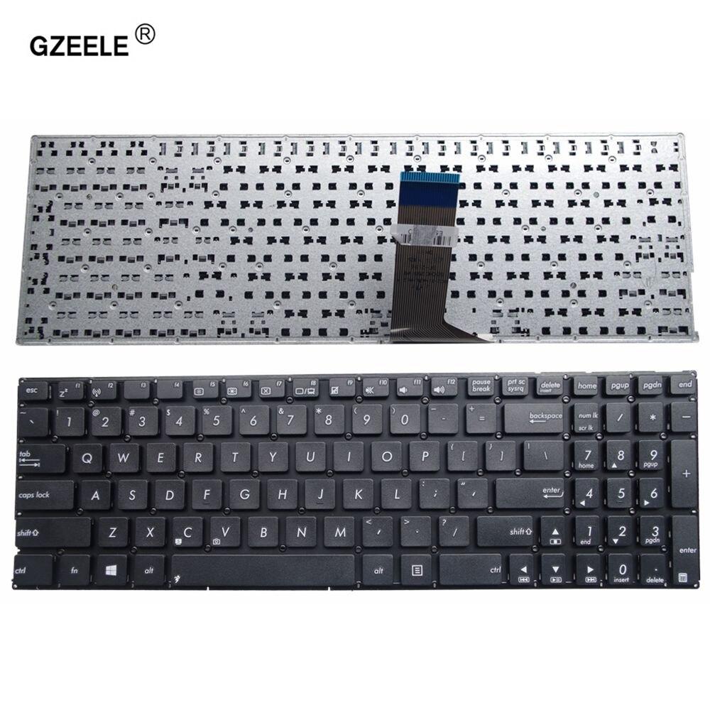 GZEELE US keyboard for ASUS X553M X553MA K553M K553MA F553M F553MA A553M A553MA D553M D553MA R556L English laptop keyboard black new laptop dc power jack socket for asus d553m f553ma x453ma x553 x553m x553ma series charging port connector