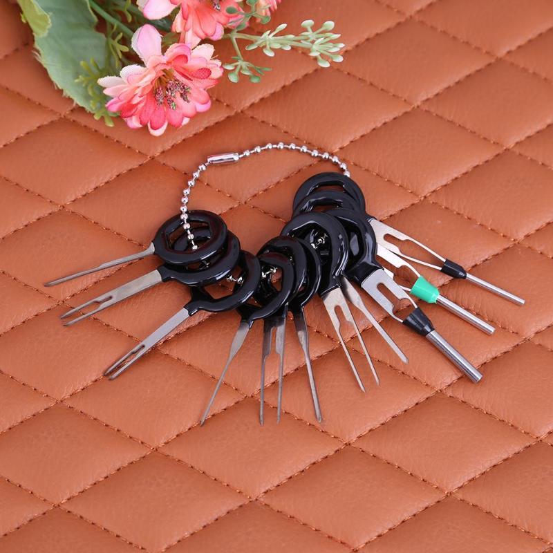 Discreet 11 Pcs Auto Car Plug Circuit Board Wire Connector Pin Removal Harness Terminal Extraction Pick Crimp Pin Back Needle Set Nourishing Blood And Adjusting Spirit