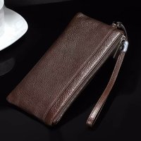 Genuine Cow Leather Hand Strap Mobile Phone Pouch Case Bags For Galaxy J8/J6/J7 Prime (2018)/C7 (2017) J7+/C8/Note7R/J7 Max/S7