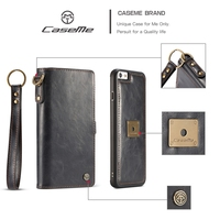 6S CaseMe Luxury Leather Wallet Case For Fundas IPhone 6 7 Flip Mobile Phone Capinha For