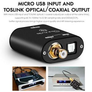 Image 4 - Nobsound Mini USB Optical Coaxial Converter XMOS 208 อินเทอร์เฟซดิจิตอลDSD DOP 192KHz