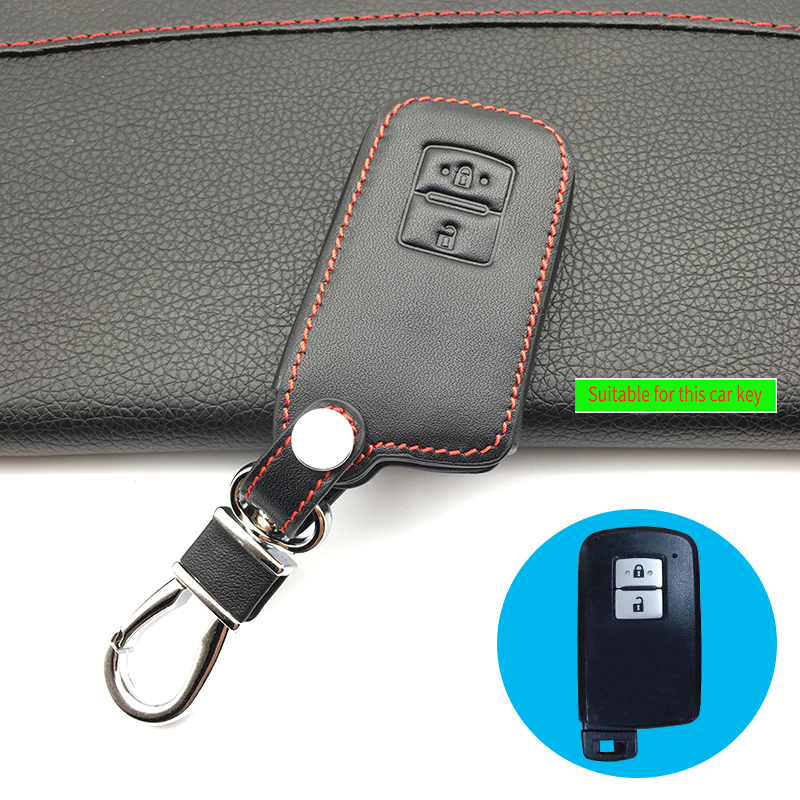 Toyota Highlander Used Mn: Top Layer Leather Genuine Leather Car Key Case For Toyota