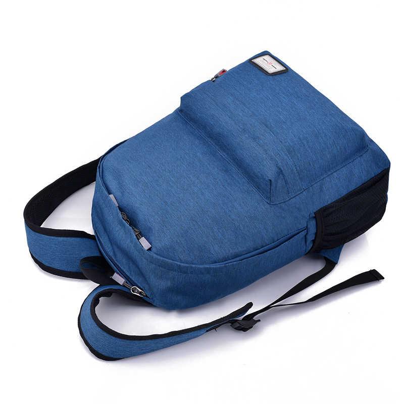 2018 новые мужские рюкзаки с usb зарядкой мужские повседневные дорожные сумки для подростков школьные сумки простой блокнот рюкзак для ноутбука
