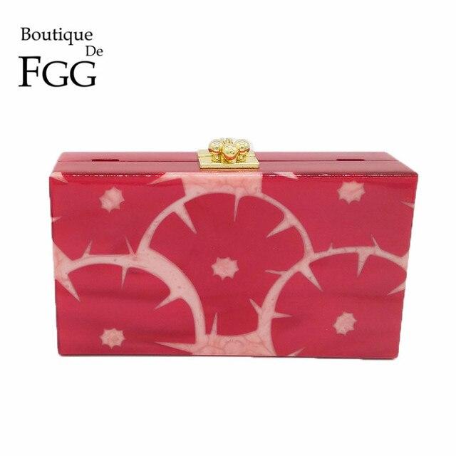 bd94c7b84d0e Red Grapefruit Women Mini Acrylic Evening Box Clutch Bag Hard Case Ladies  Party Banquet Handbag Clutches