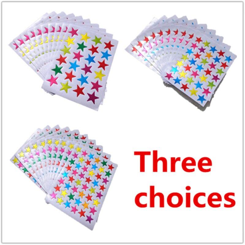 10 Pieces/Bag Child Gilding Label  Reward Flash Sticker Mother Teacher Praise Five-pointed Star Sticker